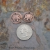 Copper Smooth Tiny Elephant Pair