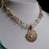 Magical Moonstone, Faceted Moonstone set Bronze Ammonite focal