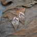 Copper Spiral Drop Pair  (1 pair)