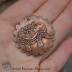 Copper Moroccan Lace Embossed Elephant Scalloped Focal