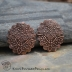 Copper Moroccan Lace Scalloped Oval Pair