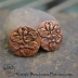 Embossed Copper Happy Sun/Moon Face