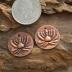 Artisan Copper Lotus Flower (1) pair