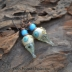 Lovely Lampwork headpins paired with beautiful bright turquoise glass beads.