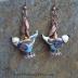 Handmade Lampwork Bird Earrings