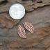 Artisan Copper Carved Leaf pair.