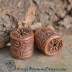 Hollow Copper Textured Tube Bead Pair  (1) pair