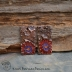 Handmade Colorful Copper Flower Garden Rectangles (1) pair #720