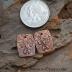 Copper Textured Barrel Shape Component pair (1) pair