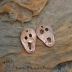 Copper Scary Melting Faces Halloween pair (1 pair)