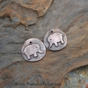 Copper Smooth Tiny Elephant Pair
