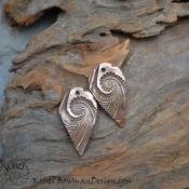 Copper Spiral Drop Pair  (1 pair)