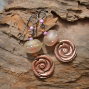 Summer Garden, Stunning Lampwork Beads swirling in soft pastel shades
