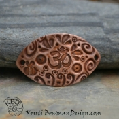 Copper Om/Namaste Collage Bracelet Bar #58
