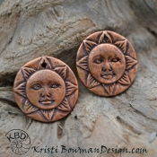 Happy Copper Sun Face (1) pair