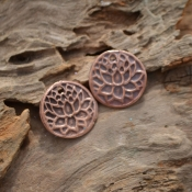 Handmade Copper Lotus Flower component Pair (1 pair)