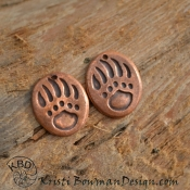 Copper Bear Paw (1) pair