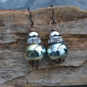 Handmade Lampwork Bead Ornament Earrings