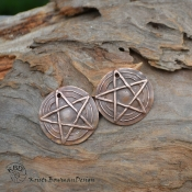 Copper Pentagram 5 point Star Pair  (1 pair)