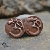 Copper Om Pair  (1 pair)