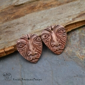 Copper Tribal Mask Drop Pair  (1 pair)