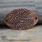 Copper Random Fern/Leaf Bracelet bar