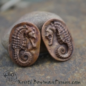 Copper Sea Horse Oval (1) pair