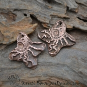 Ammonite Copper Flower
