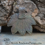 Maple Leaf Focal in White Copper (1 piece)