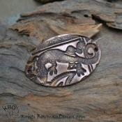 Copper Gekko Bracelet Focal (1)
