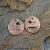 Copper Ghoulish Spooky Faces