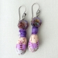 Polymer Clay and Czech Earrings